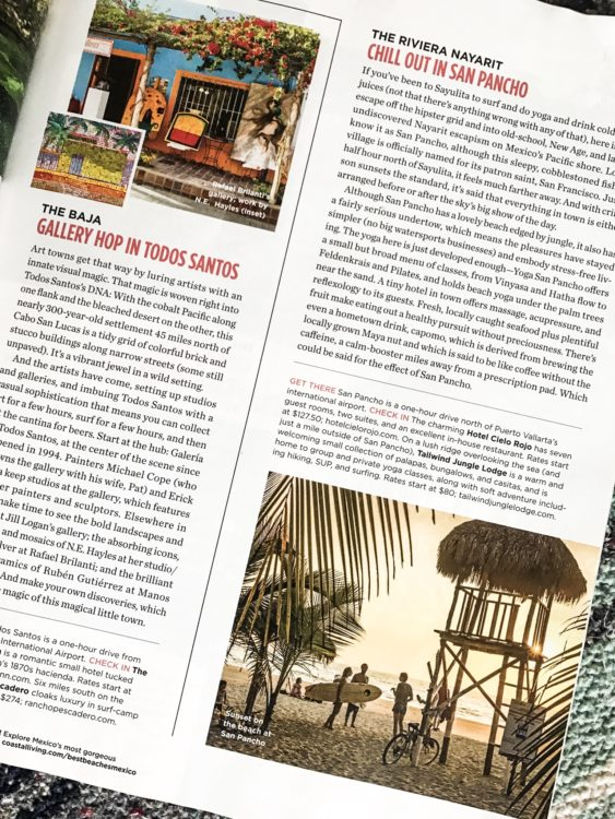 Chill out in San Pancho, Coastal Living Magazine article | FL Feibel y Asociados