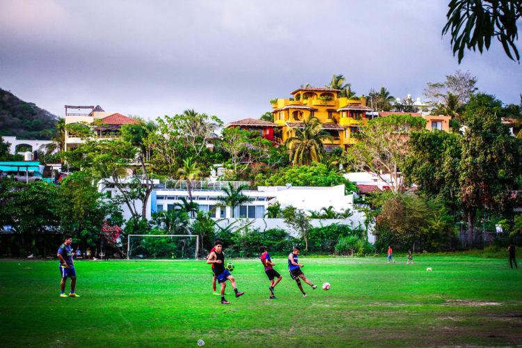 San Pancho soccer players