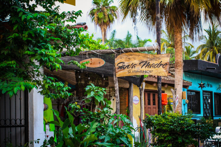 Santa Madre Surf Shop In San Pancho
